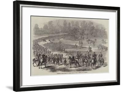 Passage of the Chiese by French Troops--Framed Giclee Print