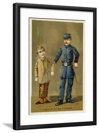 The Policeman Does Not Bring Happiness--Framed Giclee Print