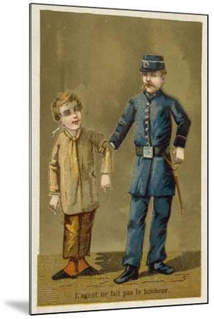 The Policeman Does Not Bring Happiness--Mounted Giclee Print
