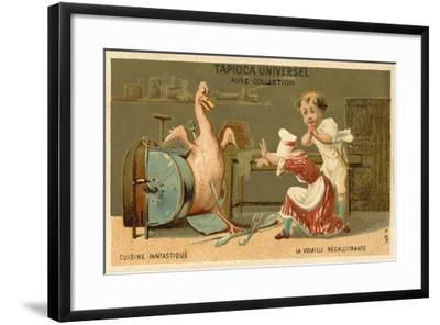 The Recalcitrant Chicken--Framed Giclee Print
