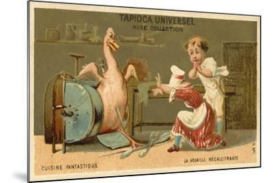 The Recalcitrant Chicken--Mounted Giclee Print