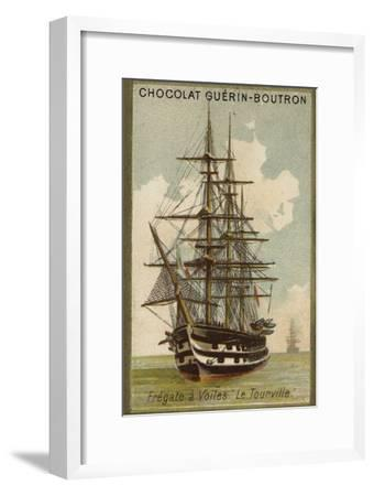 French Sailing Frigate Tourville--Framed Giclee Print