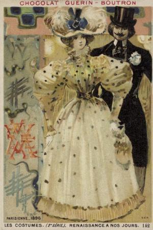 Parisian Fashions, 1896--Framed Giclee Print