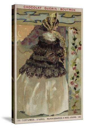 Parisian Fashion, 1855--Stretched Canvas Print