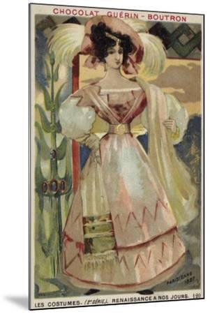 Parisian Fashion, 1827--Mounted Giclee Print
