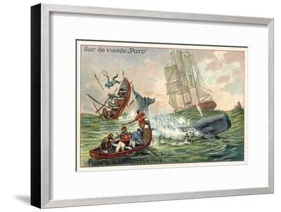 Whaling in the Arctic--Framed Giclee Print