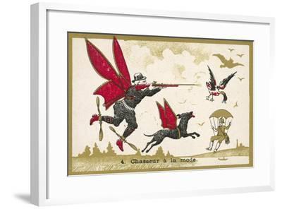 Airborne Hunter--Framed Giclee Print