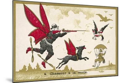 Airborne Hunter--Mounted Giclee Print