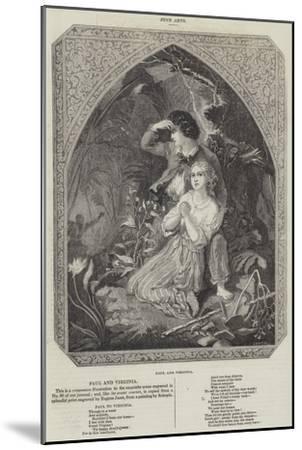 Paul and Virginia--Mounted Giclee Print