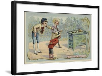 Coin Tossing Game--Framed Giclee Print