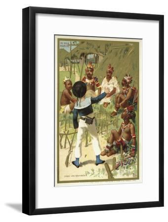 With the Savages--Framed Giclee Print