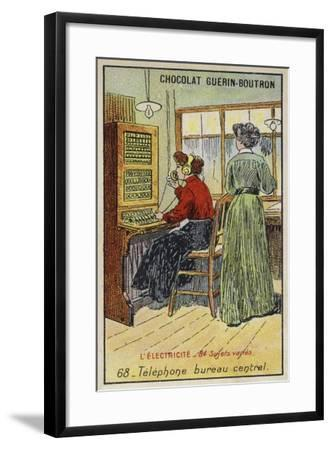 Telephone Exchange--Framed Giclee Print