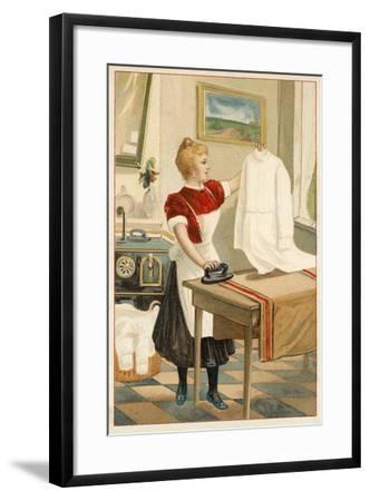 Woman Ironing--Framed Giclee Print