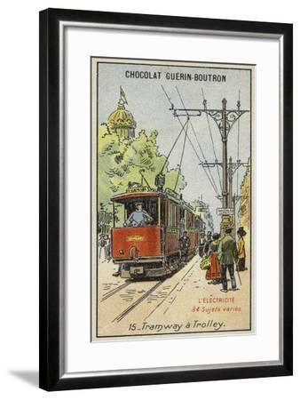 Electric Tram--Framed Giclee Print