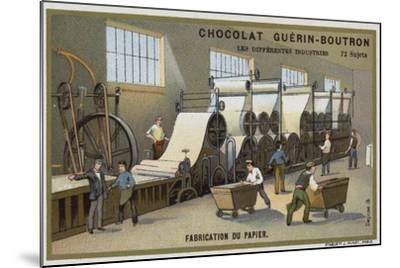 Paper Manufacturing--Mounted Giclee Print