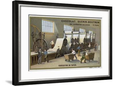 Paper Manufacturing--Framed Giclee Print