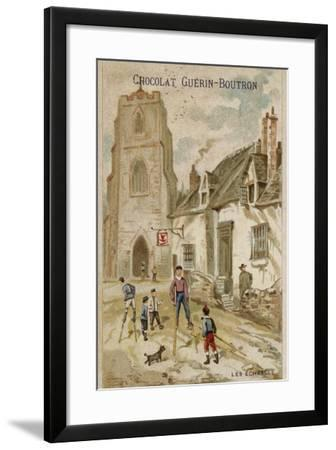 Walking on Stilts--Framed Giclee Print