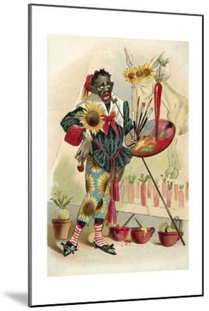 Negro Artist--Mounted Giclee Print