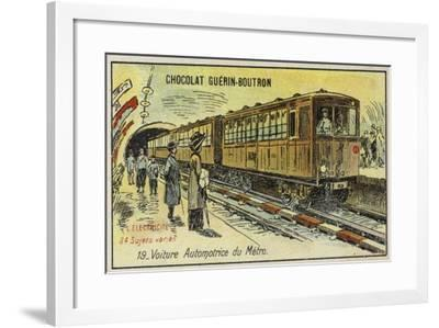 Electric Metro Train--Framed Giclee Print