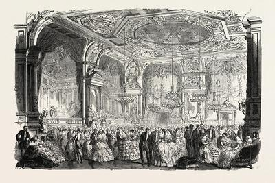 Palace of Versailles: the New Dances and Concerts Hall, 1855--Framed Giclee Print