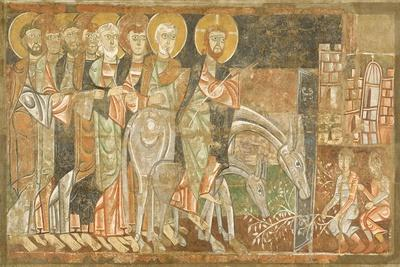 Entry of Christ into Jerusalem, C.1125--Stretched Canvas Print