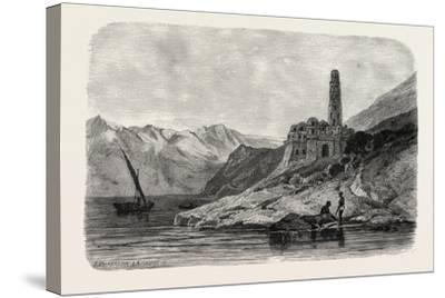 Reins of a Koptic Monastery Near Philae. Egypt, 1879--Stretched Canvas Print