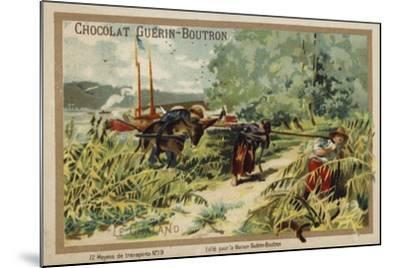 Barge--Mounted Giclee Print