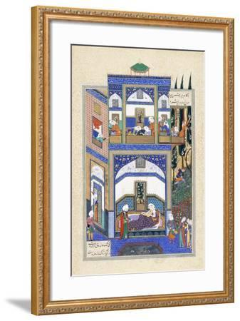 Mihrab Hears of Rudabeh's Folly, C.1500-1540S--Framed Giclee Print