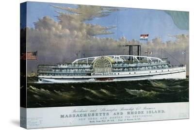 Mississippi Paddle Wheel Steamer, 1887, United States, 19th Century--Stretched Canvas Print