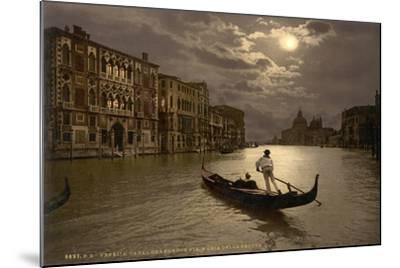Grand Canal by Moonlight, Venice, Italy, C.1890-C.1900--Mounted Giclee Print