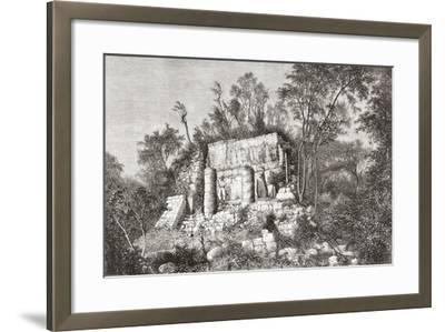 The Ball Court, Chichén Itzá, Yucatan, Mexico--Framed Giclee Print