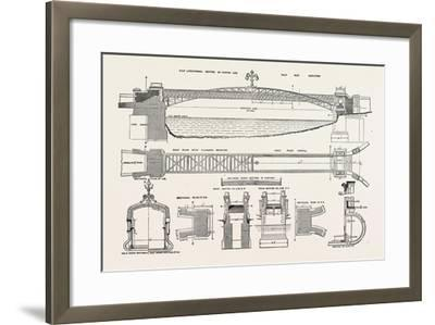 Foot Bridge over the River Welland, at Stamford, Uk, 1882--Framed Giclee Print