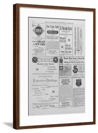 Advertisements from the World's Columbian Exposition Illustrated--Framed Giclee Print