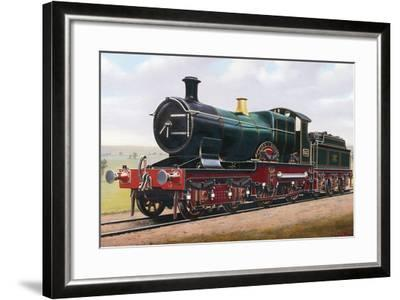 Steam Locomotive, City of Bath, England, Uk, 19th Century--Framed Giclee Print