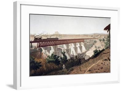 La Soledad Bridge (Veracruz), 1878, Mexico, 19th Century--Framed Giclee Print