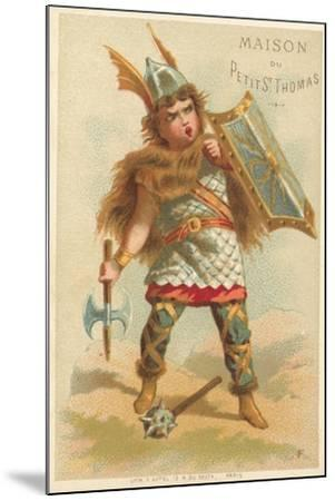 Warrior--Mounted Giclee Print