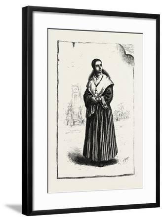 Prince Edward Island, Acadian Girl, Canada, Nineteenth Century--Framed Giclee Print