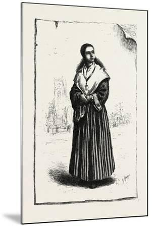 Prince Edward Island, Acadian Girl, Canada, Nineteenth Century--Mounted Giclee Print