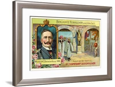 Kaiser Wilhelm II Visiting the Saalburg, Germany--Framed Giclee Print