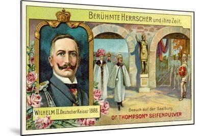 Kaiser Wilhelm II Visiting the Saalburg, Germany--Mounted Giclee Print