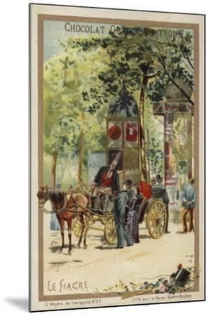 Fiacre--Mounted Giclee Print