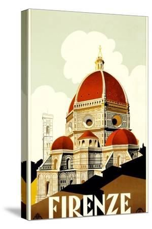 Florence Travel Poster, C.1930--Stretched Canvas Print