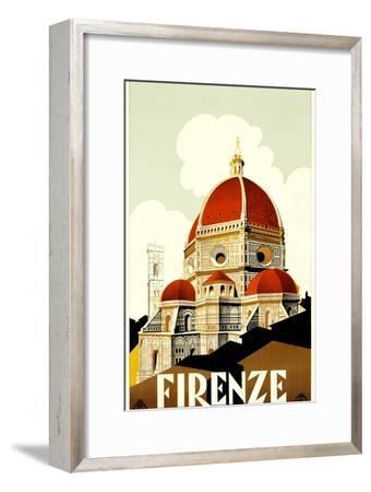 Florence Travel Poster, C.1930--Framed Giclee Print