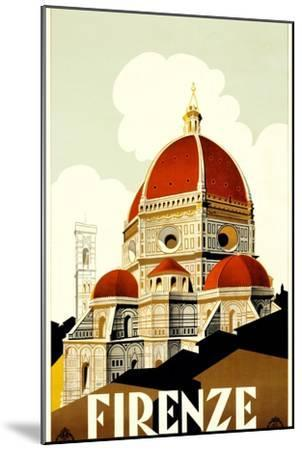 Florence Travel Poster, C.1930--Mounted Giclee Print
