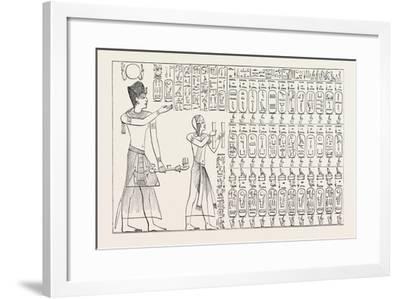 Tablet of Kings at Abydos, Egypt, 1879--Framed Giclee Print