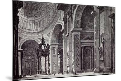 Rome Italy 1875 Interior of St. Peter's View Taken from Left Transept--Mounted Giclee Print