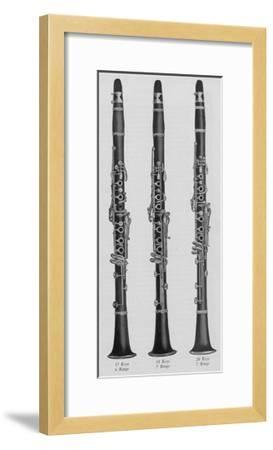A Charles Gerard Conn New Boehm Clarinets--Framed Giclee Print