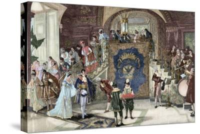 Wedding of Princess Borghese in Rome--Stretched Canvas Print
