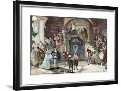 Wedding of Princess Borghese in Rome--Framed Giclee Print