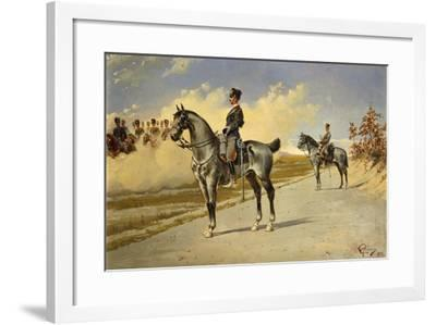 Cavalry Officer by E. Ghione, 1899--Framed Giclee Print